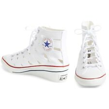 Chuck Taylor Converse All Star Cutout High Top Wedge Sneaker In White Size Uk 5