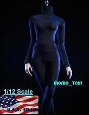 "1/12 Turtleneck Stretch Slim Top Pants For 6"" TBLeague T01 Female Figure ❶USA❶"