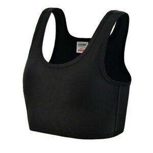 Breast Chest Binder Bandage Lesbian Les Tomboy FTM Crop Vest Tank Top Buckle Tee