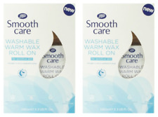 2x Boots Smooth Care Washable Warm Wax Roll-On Sensitive Skin 100ml (200ml Total