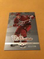 Justin Williams 04-05 Fleer Ultra Ice Medallion Card 033/100 Carolina Hurricanes