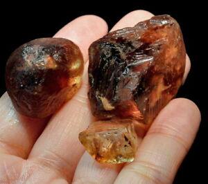 309Ct Natural Brazilian Brown Golden Imperial Topaz Specimen Facet Rough UYTZH15