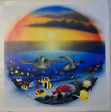 WYLAND SEA TURTLE REEF GICLEE ON CANVAS SIGNED #266/750 W/COA SEA TURTLES