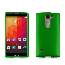 FOR LG Spirit H443 / Logos / Escape 2 /C70 GREEN HARD COVER CASE + SCREEN FILM