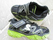SKECHERS BLACK GREEN ATHLETIC SNEAKER SHOES GIRLS 12 FREE SHIP