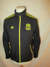 veste de  survêtement de football vintage FC Liverpool Adidas Noir Taille S