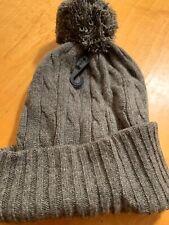 NWT Women's Ralph Lauren 100% Cashmere Hat Eith Pompom #43