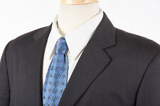 Mens GANT Blazer 42 R in Modern Charcoal Gray Wool Double Vented Pick Stitch