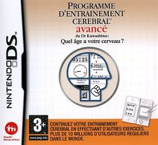 8945 // JEU NINTENDO DS PROGRAMME ENTRAINEMENT CEREBRAL AVANCE