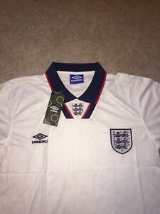 Retro England Shirt 1994 World Cup Home Shirt BNWT Size L