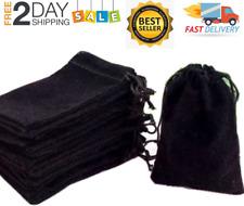 New Listing3 X 4 Black Velvet Cloth Jewelry Pouchesdrawstring Bags 100 Pcs