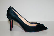 sz 9.5 / 40 Christian Louboutin Decoltish Green Velvet Pointed Toe Pump Shoes