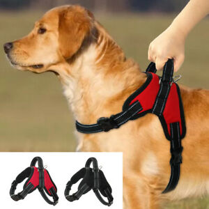 Reflective No Pull Dog Harness Medium Large Dogs Soft Padded with Handle Vest