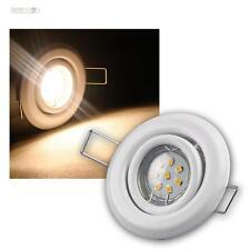 5er SET MR11 LED Einbaustrahler weiß je 8 Power SMD LEDs warmweiß, inkl. Trafo
