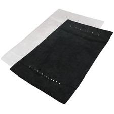 Luxury Diamante Sparkle Cotton Shower Bath Mat Rug Absorbent Non Slip