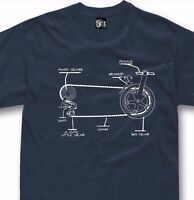 Funny Bicycle T Shirt Gift Bike Cycling Rider  S - 5XL