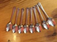 8 x Vintage Silver Plate EPNS Dessert Spoons 18cm A1 Sheffield
