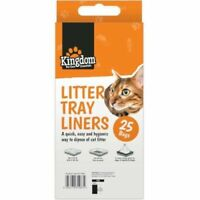 25x CAT LITTER TRAY LINERS Kitty/Pet Waste/Material/Disposal Cleaner/Bags - 70cm