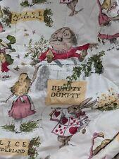 Vtg Storyland Comforter Humpty Dumpty Alice in Wonderland Nursery Rhyme Blanket