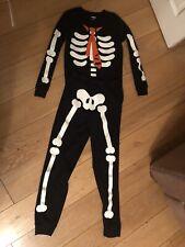 Gymboree Skeleton Glow Halloween Costume Size 12 Years