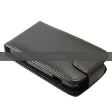 BLACK PU LEATHER FLIP CASE / COVER FOR HTC CHACHA