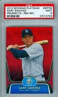 GARY SANCHEZ 2012 BOWMAN PLATINUM PROSPECTS RED REFRACTOR SP/25 RC ROOKIE PSA 9