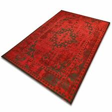 Design Vintage Teppich | viele Größen | im angesagten Shabby Chic Look in Rot