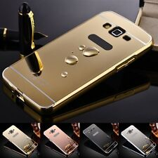 Aluminum Metal Mirror Case PC Back Cover Skin For Samsung GALAXY 4 S3 S4 S5 S6
