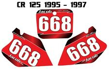Custom number graphics for Honda CR 125 1995-97