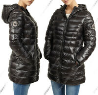 NEW Size 8 10 12 14 16 Womens PADDED COAT Ladies JACKET Quilted Black Parka