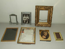 Vintage and Antique Picture Frame Frames Lot - Brass, Wood, Etc.
