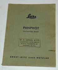 LEITZ PANPHOT INSTRUCTION BOOK