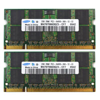 Samsung 4GB 2X2GB PC2-6400 DDR2-800 800Mhz DDR2 200pin Sodimm Laptop Memory Ram