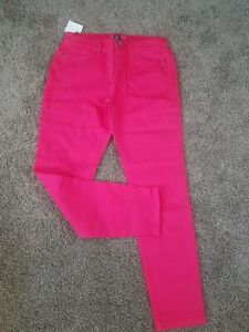 Victoria's Secret The London Midi Hot Pink Slim Jean Size 10 New w/Tag
