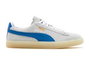 Puma White Castle Suede Sneakers