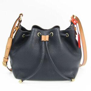 Coach Soft Legacy Drawstring 25305 Women's Leather Shoulder Bag Beige,N BF522825