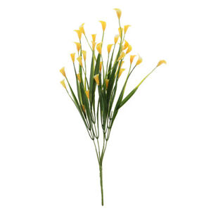 Artificial Calla Lily Flowers Greenery Bush Grass Shrubs Table Centerpieces
