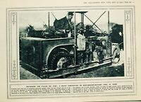 1916 WWI WW1 PRINT DEVICE CONSTRUCTED ON ROAD MENDING MACHINE LINES AT WORK