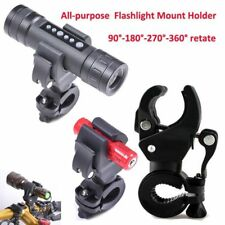 Bike Bicycle Cycling LED Flashlight Torch Mount Clamp Clip Holder Grip Bracket