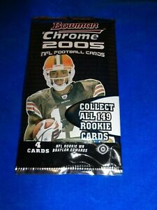 2005 Bowman Chrome Football HOBBY Pack - Aaron Rodgers Rookie year