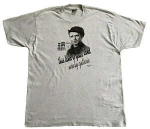 XL Vintage 1993 T Shirt Woody Guthrie This Land Is Your Land Single Stitch Mint