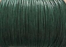 90 metros X 1 mm Hilo de Algodón Encerado Verde Oscuro joyería macramé - - Trabajos Manuales £ 4.55