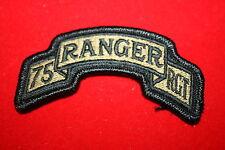 GENUINE US ARMY 75TH RANGER RCT SHOULDER TAB MULTICAM MCU CLOTH VELCRO PATCH