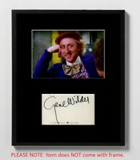 Gene Wilder Matted Autograph & Photo! Willy Wonka & the Chocolate Factory! Meme!