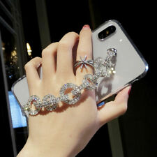 Bling Diamond Clear Glossy Case + Bracelet For iPhone 11 XS Max Samsung Note10