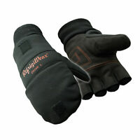 RefrigiWear Fleece Lined Fiberfill Insulated Softshell Convertible Mitten Gloves