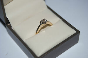 RRP £1600 Sale £1000 Solitaire diamond in a four heavy claw settin Appraisal .C.