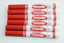 Crayola - Dry Erase Wipe Clean Washable Marker Pens, 6 Red Pens