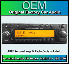 Porsche Boxster 986 Becker Traffic Pro BE 4720 CD player stereo code