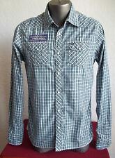 SCOTCH CO Scotch & Soda Plaid Snap Up Oil Service Patch Cotton Western Shirt M